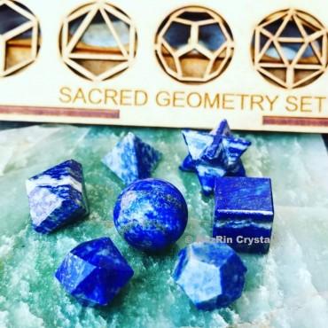 Lapis lazuli Sacred Geometry set