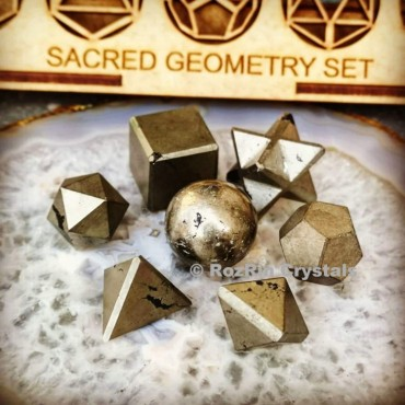 Pyrite Sacred Geometry set