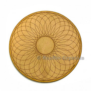 Circle Flower of Life Crystal Grid