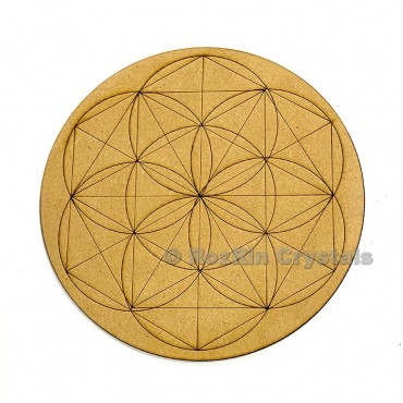 Flower of life Chakra Healing Crystal Grid