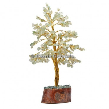 Green Aventurine Golden Wire 300 Chips Tree