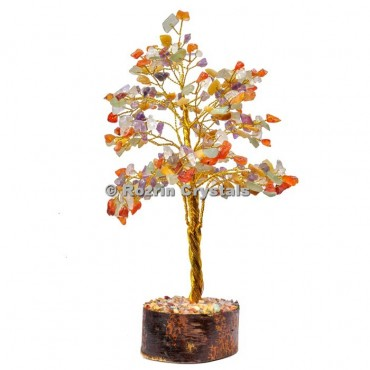 Multi Stone Golden Wire 300 Chips Tree