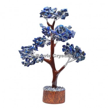 Lapis Lazuli Trunk Silver Wire 300 Chips Tree