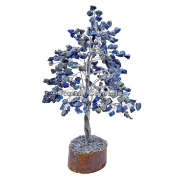 Lapis Lazuli Silver Wire 300 Chips Tree