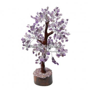 Amethyst Trunk Silver Wire 300 Chips Tree