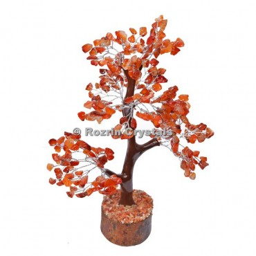 Carnelian Trunk Silver Wire 300 Chips Tree