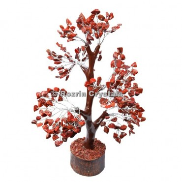 Red Jasper Trunk Silver Wire 300 Chips Tree