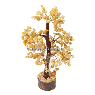 Golden Quartz Trunk Golden wire 300 chips  Tree