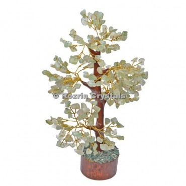 Green Aventurine Trunk Golden wire 300 chips  Tree