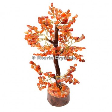 Carnelian Trunk Golden wire 300 chips  Tree