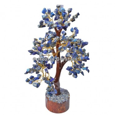 Lapis Lazuli Trunk Golden wire 300 chips  Tree