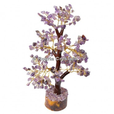 Amethyst Trunk Golden wire 300 chips  Tree