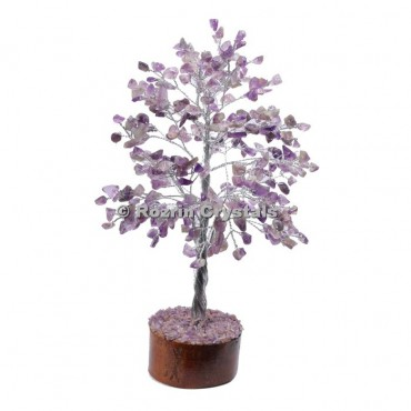 Amethyst Silver Wire 300 Chips Tree