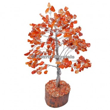 Carnelian Silver Wire 300 Chips Tree