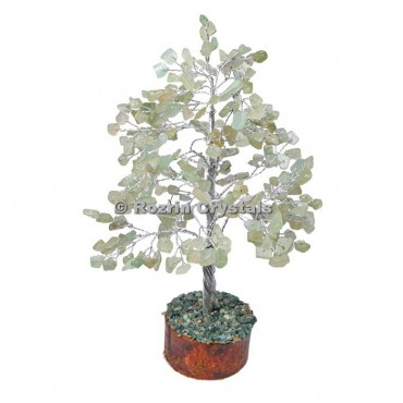Green Aventurine Silver Wire 300 Chips Tree
