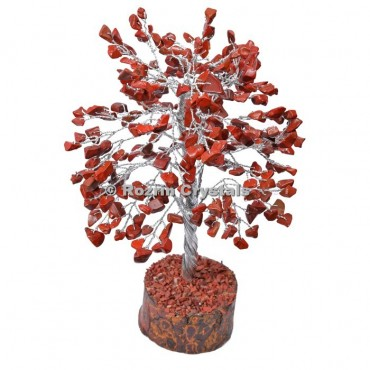 Red Jasper Silver Wire 300 Chips Tree