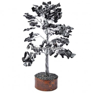 Black Japser Silver Wire 300 Chips Tree