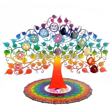 Printed Chakra Positive Energy Decorative Tree