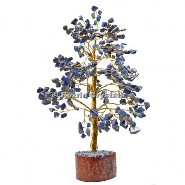 Lapis Lazuli Golden Wire 300 Chips Tree