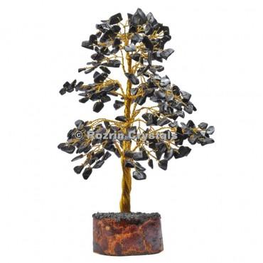 Black Jasper Golden Wire 300 Chips Tree