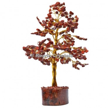Red Jasper Golden Wire 300 Chips Tree