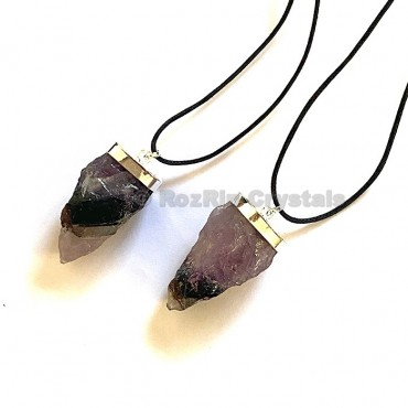Amethyst Natural Pendulum Shape Necklace