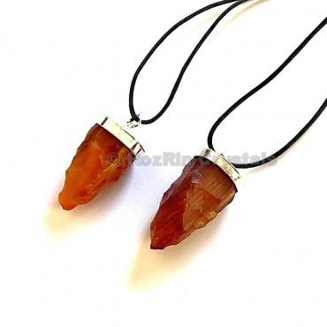 Carnellian Natural Pendulum Shape Necklace