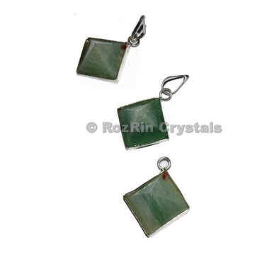 Green Aventurine Pyramid Pendant