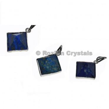 Lapis Lazuli Pyramid Pendants