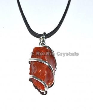 Red Jasper Twisted Pendant