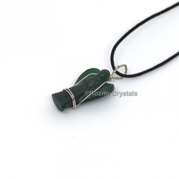 Jade Green Wrap Angel Pendant