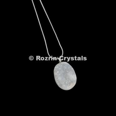 Crystal Druzy disc Healing Pendant