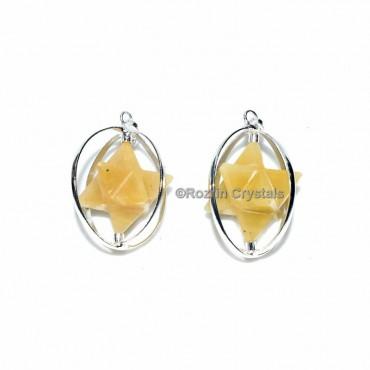 Yellow Aventurine Merkaba Star Pendant