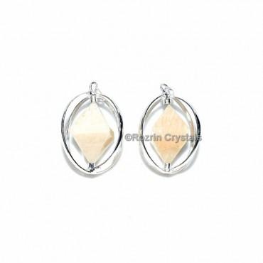 Cream MoonStone Double Pyramid Pendant