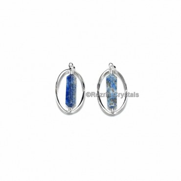 Lapis Lazuli Double Point Cage Pendant