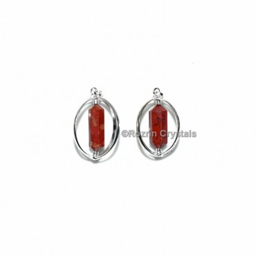 Red Jasper Double Point Cage Pendant