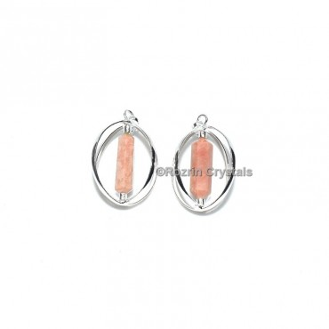 Moonstone Double Point Cage Pendant