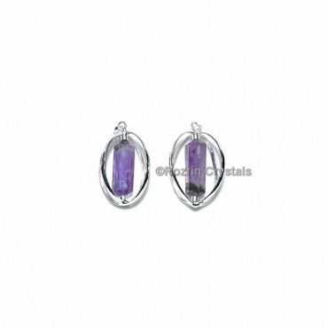 Amethyst Double Point Cage Pendant