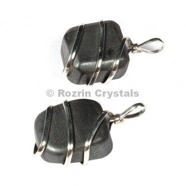 Hemetite Tumbled Wrap Pendants