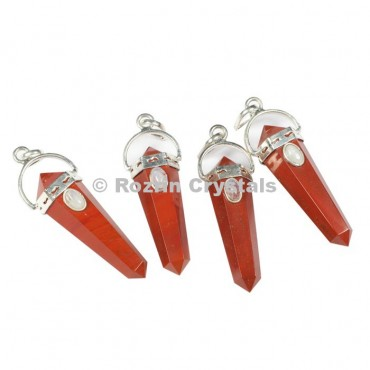 Red Jasper Double Point Pendants