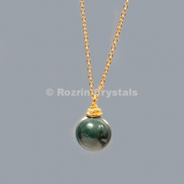 Bloodstone Ball Necklace