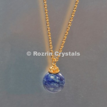 Sodalite Ball Necklace