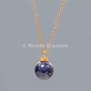 Lepis Lazuli  Ball Necklace