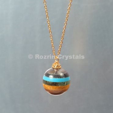 Chakra Bonded  Ball Necklace