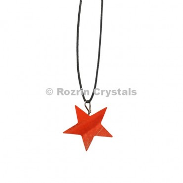 Red Jasper Star Pendants