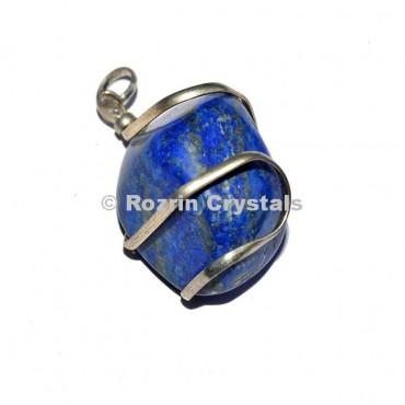 Lapis Lazuli Tumbled Wrap Pendants