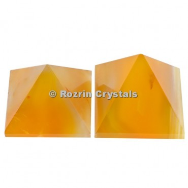 Yellow Onyx Pyramid