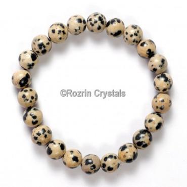 Export Quality Dalmatian Jasper Gemstone Bracelet