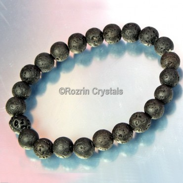 Good Quality Lava stone Gemstone Bracelet