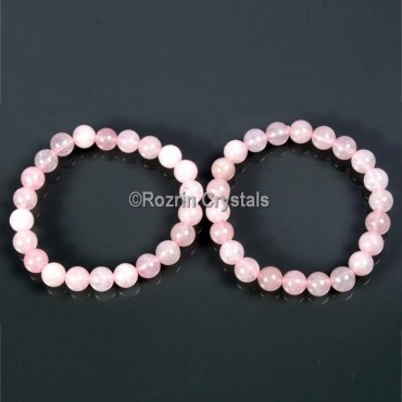 Export Quality Rose Quartz Gemstone Bracelet